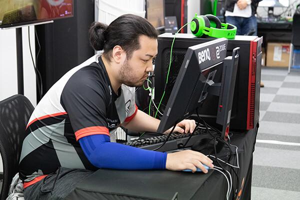 AIM力の高さを魅せるhimajun選手