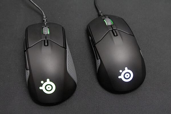SteelSeriesマウス Rival 310(左)、Sensei 310(右)