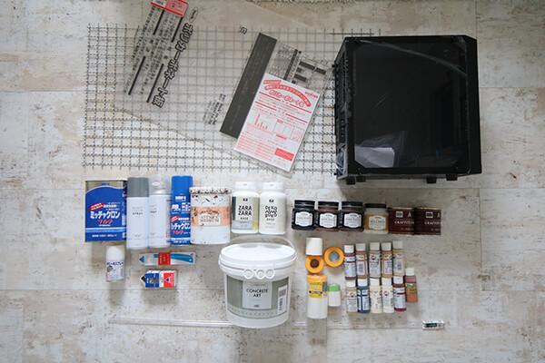 SWAROさんが使用したPCケース(SST-PS15B-G)と装飾素材や塗料など