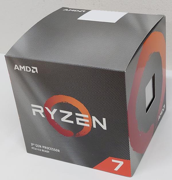 Ryzen 7 3700Xのパッケージは従来から踏襲されたデザインとなっています。