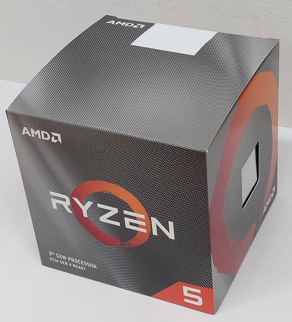 Ryzen 5 3600Xのパッケージデザイン。