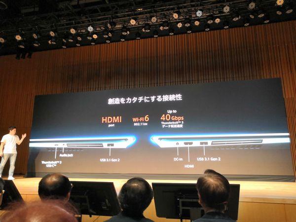 ZenBook Pro Duoの拡張性(HDMI / Wi-Fi6 / Thunderbolt 3)