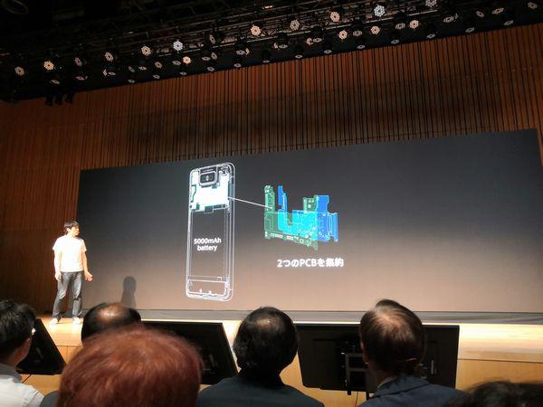 ZenFone 6 のコンパクトな基盤部分を紹介