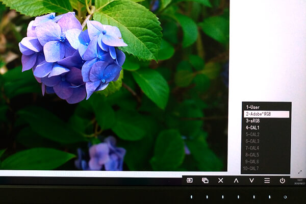 ColorEdge CS2731-BKをAdobe RGB モードで表示
