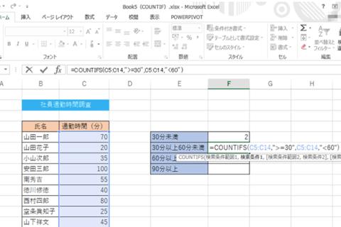 エクセル COUNTIF関数をマスターするのイメージ画像