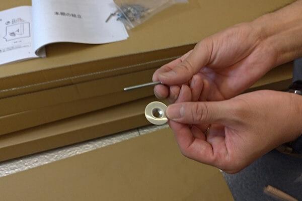 棚板と側板/背面板をネジ止め固定-1