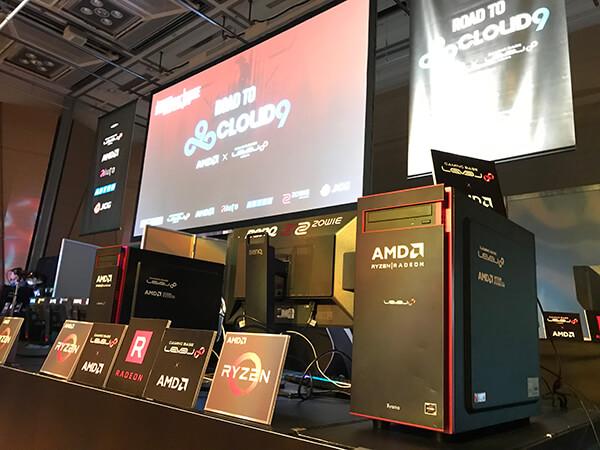 会場に設置されたAMD Ryzenプロセッサー搭載のLEVEL∞ ゲーミングPC