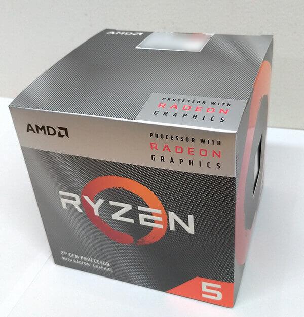 Ryzen 5 3400Gのパッケージ