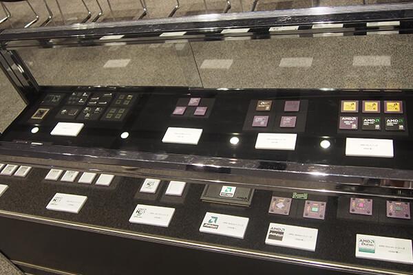 歴代CPU展示コーナー
