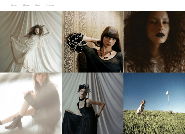 「eyes creative & models」のWebサイト