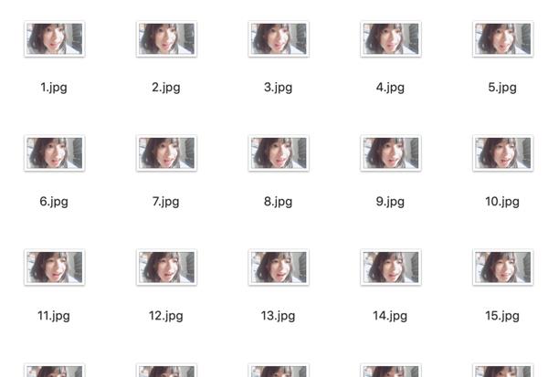 今回は5秒の動画から、1秒あたり20枚ずつ切り出し、100枚の画像にしました。