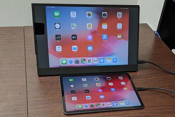 モバイルディスプレイ「FW-LCD156」をタブレットに接続
