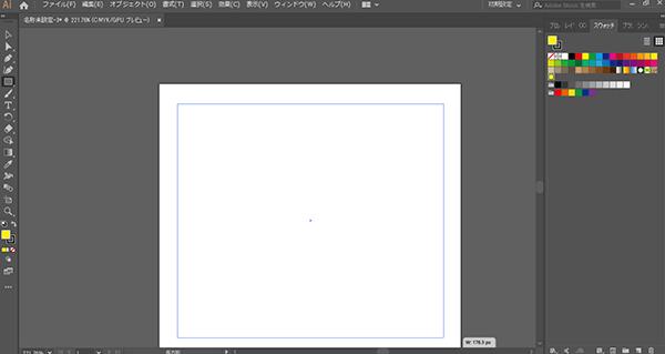 作成したパターンスウォッチを選択してから長方形を描く