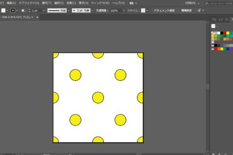 Adobe Illustrator CCでドットのパターンを作るのイメージ画像