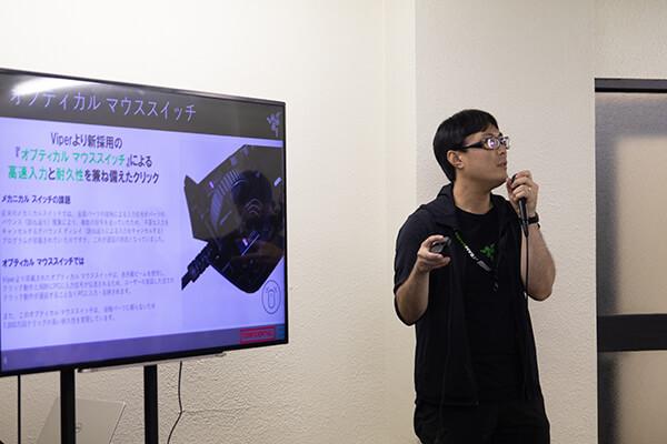 Razerセッションに登壇されたMSY 株式会社 小豆 匠氏
