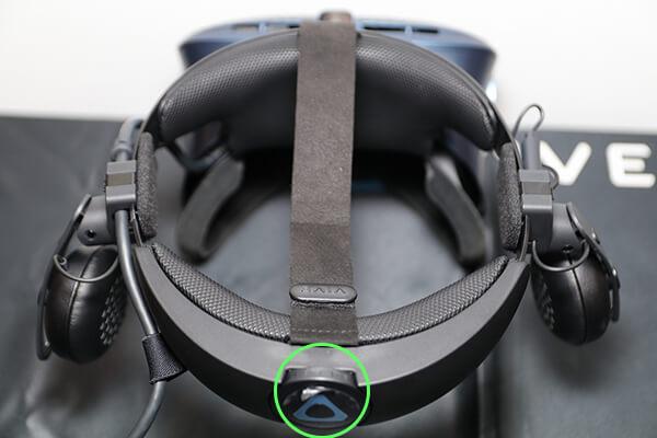 VIVE COSMOSの装着感を調整するダイヤル