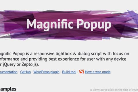 jQueryプラグイン Magnific Popup の使い方のイメージ画像