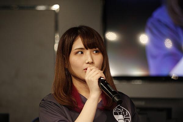 チームの知名度を上げたいと語るチーム代表の017_Reinaさん