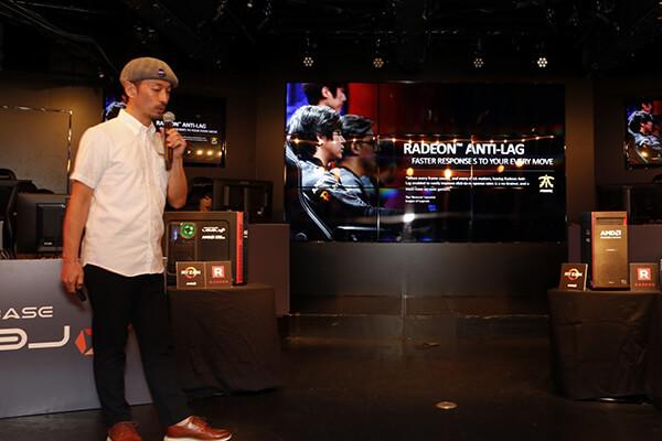 日本AMD株式会社 佐藤 美明氏による製品性能、ANTI-LAG機能などの紹介