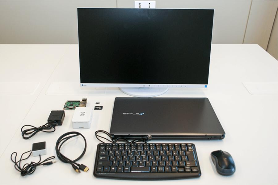 今回はパソコン用のモニターを用意しましたが、HDMIケーブルでつなげば自宅のテレビに接続することも可能です。