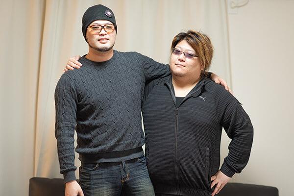池さん(左)とてるしゃん選手(右)