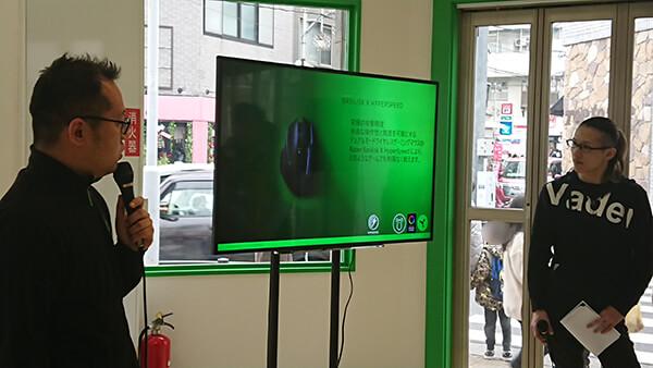 Razerセッションで製品紹介をするMSY株式会社 橋本 篤氏