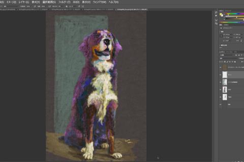 Photoshop パステル描画をマウス操作だけで実現する方法のイメージ画像