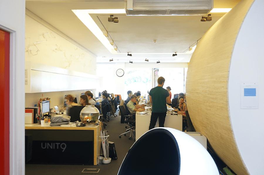 岸本さん在籍時のUNIT9のオフィス風景