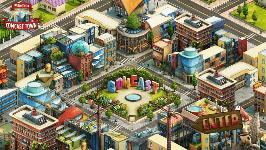 2014年、アメリカの情報通信・メディアエンターテイメント企業Comcastが提供するソーシャルゲーム「Comcast Town」のCDを岸本さんが務める
