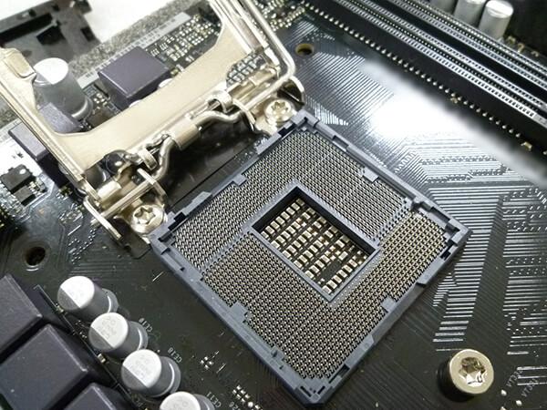 LGA1200 ソケット部の拡大画像