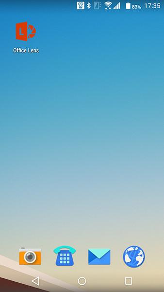 Androidのアイコンホーム画面