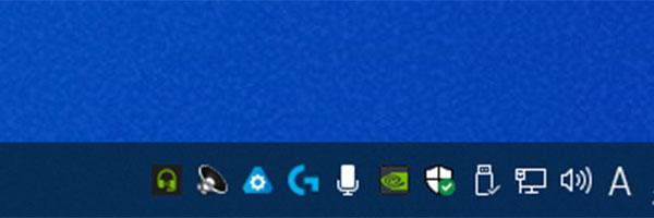 タスクバー表示されたRTX Voiceのアイコン