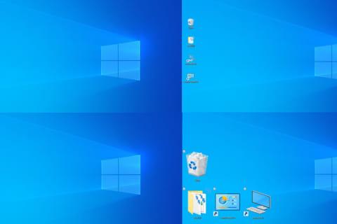 Windows 10でデスクトップ上のアイコンや文字の大きさを変える方法のイメージ画像