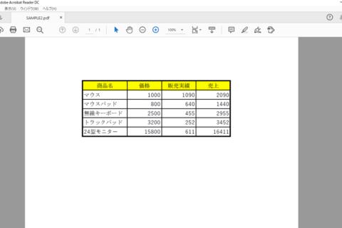 PDF文書内の表をExcelで編集する方法のイメージ画像