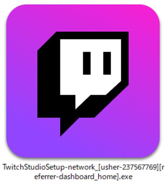 Twitch Studioのインストーラー