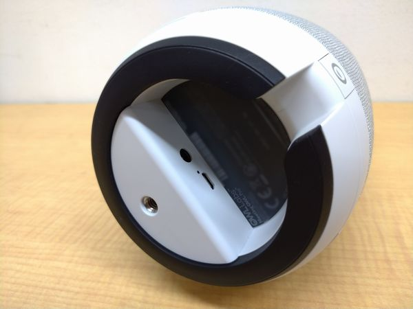 ミーティングオウル プロのACアダプター接続端子、USB接続端子、三脚固定ネジ穴