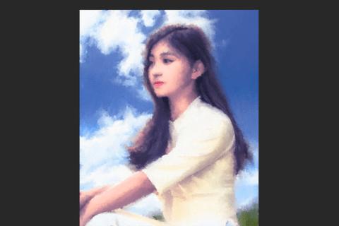 Photoshop マウス操作で画家モネ風の絵を描くのイメージ画像