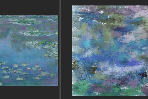 Photoshopとペンタブレット連携でモネの画風に挑戦のイメージ画像