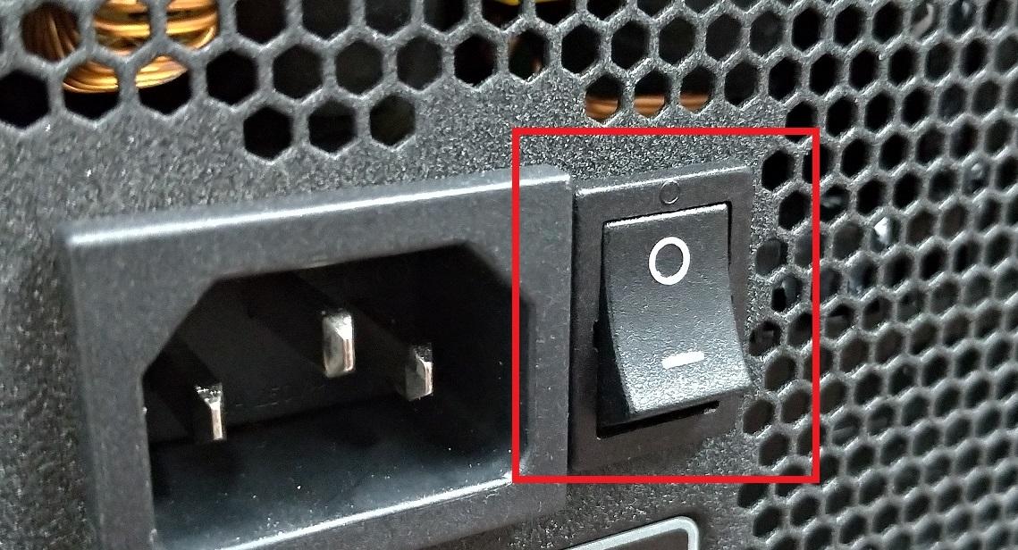 電源ユニットのスイッチ