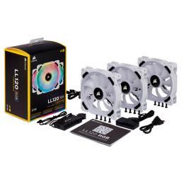 LL120 RGB White Triple Fan Kit (CO-9050092-WW)