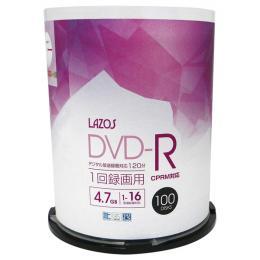 Lazos L-CP100P [DVD-R 16倍速 100枚組]