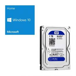 Windows 10 Home 64Bit DSP + Western Digital WD10EZRZ-RT [1TB SATA600] バンドルセット