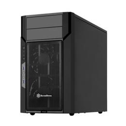 <パソコン工房> マザーボードを倒立配置することでケース内エアフローの効率化を図ったMicroATXマザーボード向けPCケース SST-KL06B