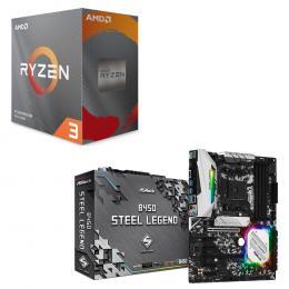 AMD Ryzen 3 3100 BOX + ASRock B450 Steel Legend セット