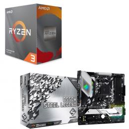 AMD Ryzen 3 3100 BOX + ASRock B550M Steel Legend セット