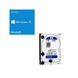 Windows 10 Home 64Bit DSP + Western Digital WD30EZRZ-RT バンドルセット