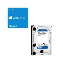 Windows 10 Home 64Bit DSP + Western Digital WD20EZAZ-RT バンドルセット