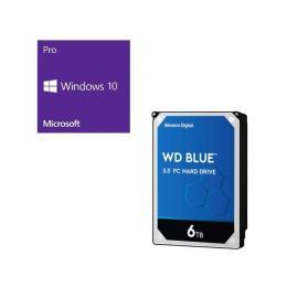 Windows 10 Pro 64Bit DSP + Western Digital WD60EZAZ-RT バンドルセット