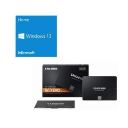 Windows 10 Home 64Bit DSP + SAMSUNG 860 EVO MZ-76E500B/IT バンドルセット