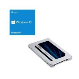 Windows 10 Home 64Bit DSP + Crucial CT2000MX500SSD1/JP バンドルセット